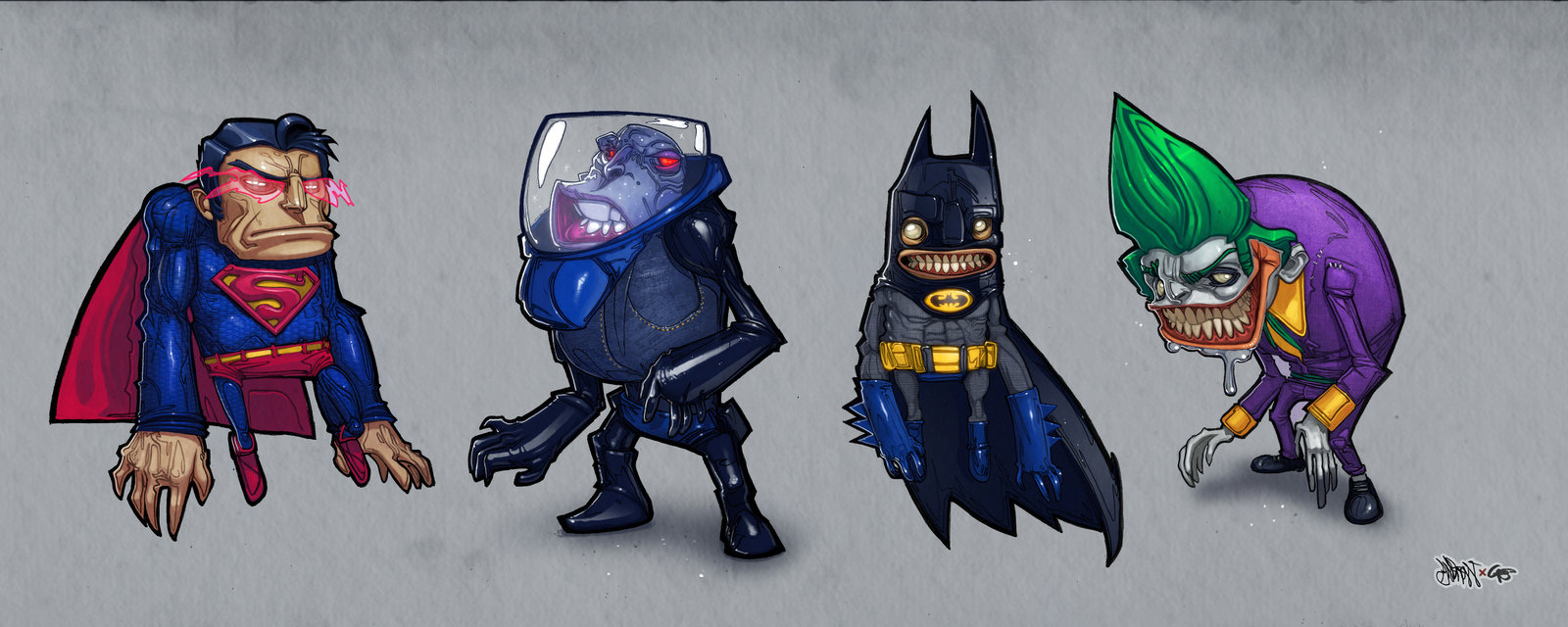 Drawings and Paintings - Pop Art #batman #charactersheet #dc4 #freeze #joker #superman #gambear1er