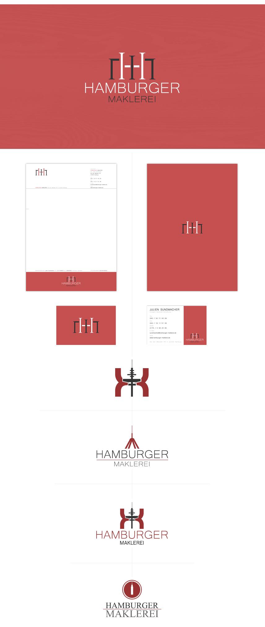 Logo- und Printdesign Hamburger Maklerei