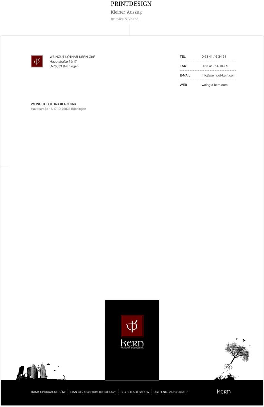 Printdesign Kern, Auszüge