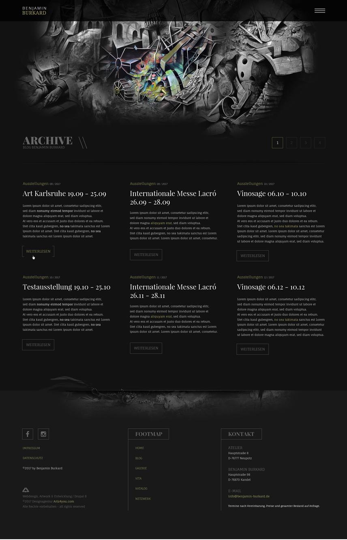 Blog-Archive-Unterseiten-Webdesign